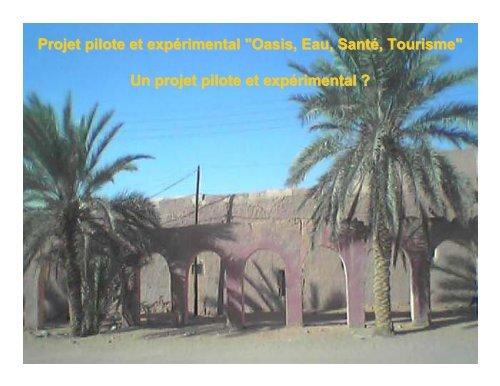 TOURISME SAHARIEN & GESTION DURABLE DE L'EAU ... - INBO