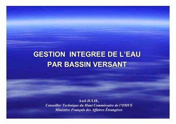 GESTION INTEGREE DE L'EAU PAR BASSIN VERSANT - INBO