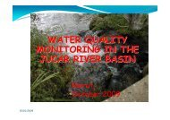 WATER QUALITY MONITORING IN THE JUCAR RIVER BASIN - INBO