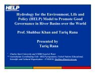 Hydrology for the Environment, Life and Policy (HELP) Model ... - INBO