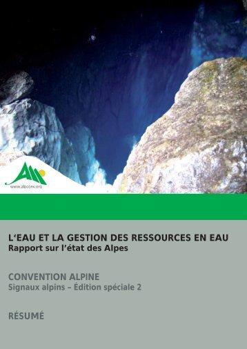 L'eau et la gestion des ressources en eau - Convenzione delle Alpi