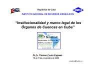 """""""Institucionalidad y marco legal de los Órganos de Cuencas ... - INBO"""