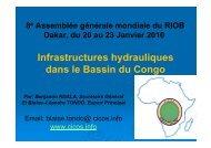 Infrastructures hydrauliques dans le Bassin du Congo - INBO