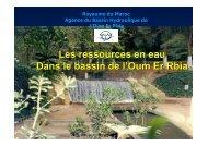 Les ressources en eau Dans le bassin de l'Oum Er Rbia - INBO