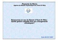 Royaume du Maroc Ressources en eau du Bassin d'Oum Er ... - INBO
