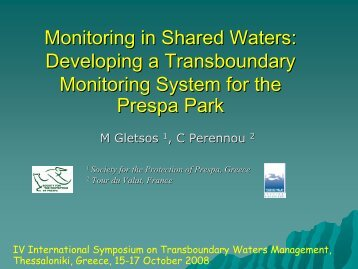 Monitoring in Shared Waters: Developing a Transboundary ... - INBO
