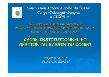cadre institutionnel et gestion du bassin du congo - INBO