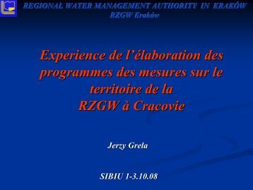 REGIONAL WATER MANAGEMENT AUTHORITY IN ... - INBO