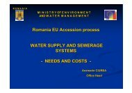 Romania EU Accession process WATER SUPPLY AND ... - INBO