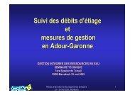 Suivi des débits d'étiage et mesures de gestion en Adour ... - INBO