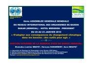 gestion integree de la reserve d'eau de bango (senegal) - RIOB