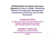 MYWAS (Multi-Year Water Allocation System)The Value of ... - INBO