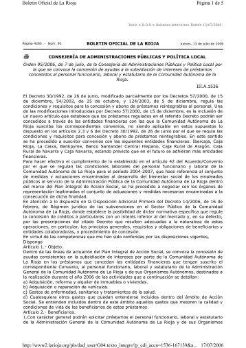 Orden 95/2006, de 7 de julio - Rioja Salud