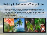 Retiring in Belize for a Tranquil Life