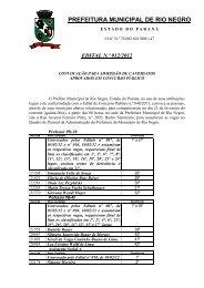 Edital 012/2012 - Prefeitura Municipal de Rio Negro