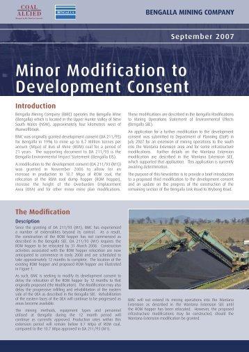 Minor modification to development consent newsletter September ...