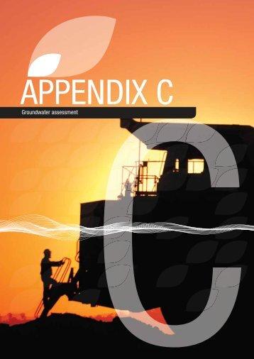 Appendix C - Groundwater assessment - Rio Tinto Coal Australia