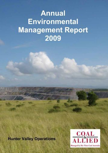 HVO 2009 Annual Environmental Management Report - Final