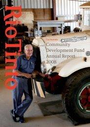 2008 Community Development Funds Report (PDF 2.85 MB)