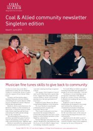 Coal & Allied Community Newsletter Singleton edition June 2010