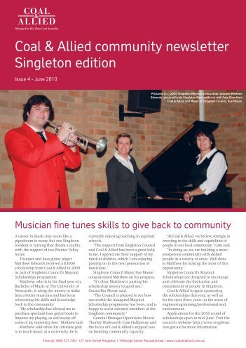 Coal & Allied Community Newsletter Singleton edition June 2010
