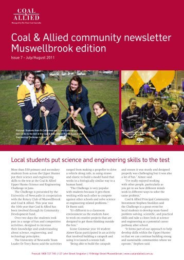 Coal & Allied Community Newsletter Muswellbrook edition August ...