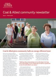 Coal & Allied Hunter Valley community newsletter March 2013 (PDF ...