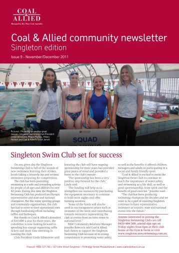 Coal & Allied Community Newsletter Singleton edition November 2011