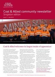 Coal & Allied Community Newsletter Singleton edition May 2012