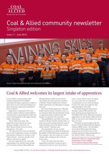 Coal & Allied Community Newsletter Singleton edition May 2012