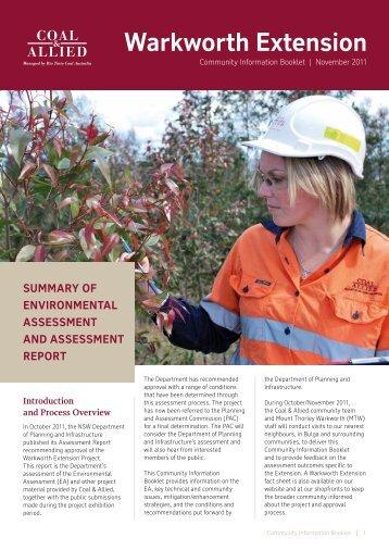 Warkworth Extension Fact Sheet - Rio Tinto Coal Australia