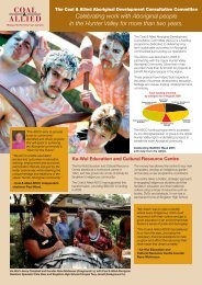 Celebrating work with Aboriginal people in the Hunter Valley for ...