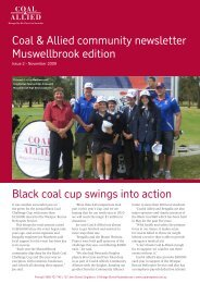 Coal & Allied community newsletter Muswellbrook edition Black coal ...