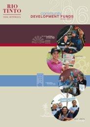 2006 Community Development Funds Report - Rio Tinto Coal ...