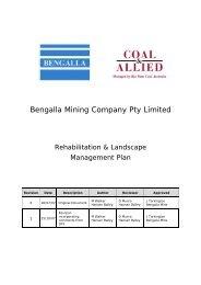 Bengalla Mining Company Pty Limited - Rio Tinto Coal Australia