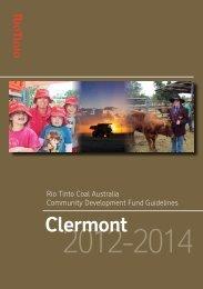 Clermont Community Development Fund guidelines - Rio Tinto Coal ...