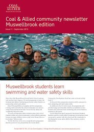 Coal & Allied community newsletter Muswellbrook edition