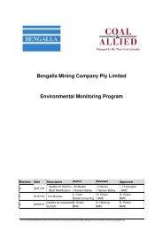 Bengalla Environmental Monitoring Programme.pdf - Rio Tinto Coal ...