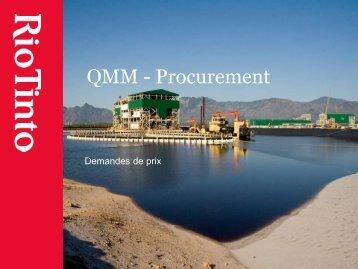 QMM - Procurement - Rio Tinto - Qit Madagascar Minerals