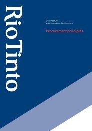 download: Procurement principles - Rio Tinto Procurement