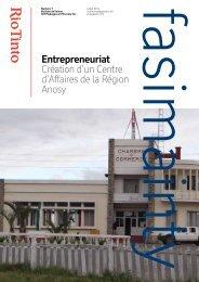 Création d'un Centre d'Affaires de la Région Anosy Entrepreneuriat