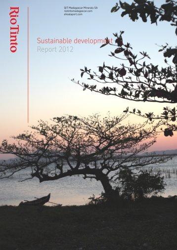 Sustainable development Report 2012 - Rio Tinto - Qit Madagascar ...