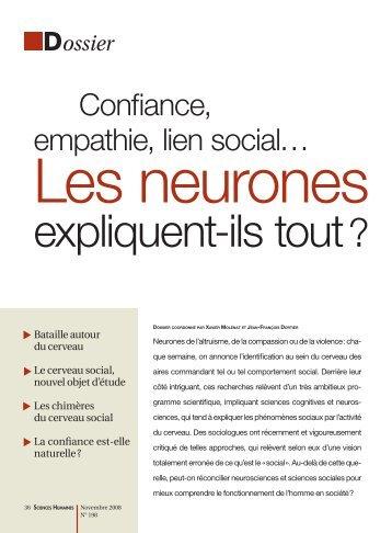 Confiance, empathie, lien social… - Risc - CNRS
