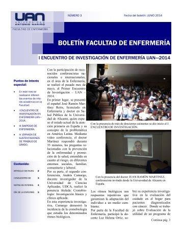 BOLETÍN FACULTAD DE ENFERMERÍA
