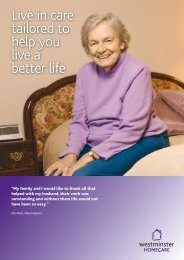 Live in care tailored to help you live a better life