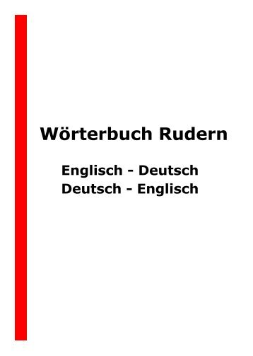 Wörterbuch Englisch–Deutsch und Deutsch–Englisch