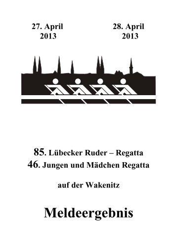 Meldeergebnis - Rudern in Schleswig-Holstein