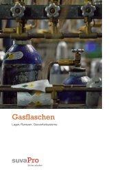 Gasflaschen, -lager, -verteilsysteme, SUVA