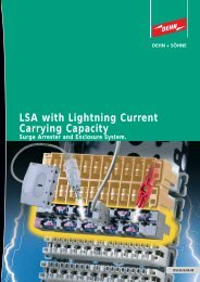 LSA with Lightning Current Carrying Capacity - Dehn + Söhne ...