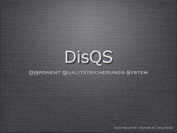 Disponent Qualitätsicherungs System (DisQs) - Risikous